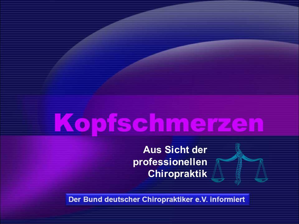 Aus Sicht der professionellen Chiropraktik