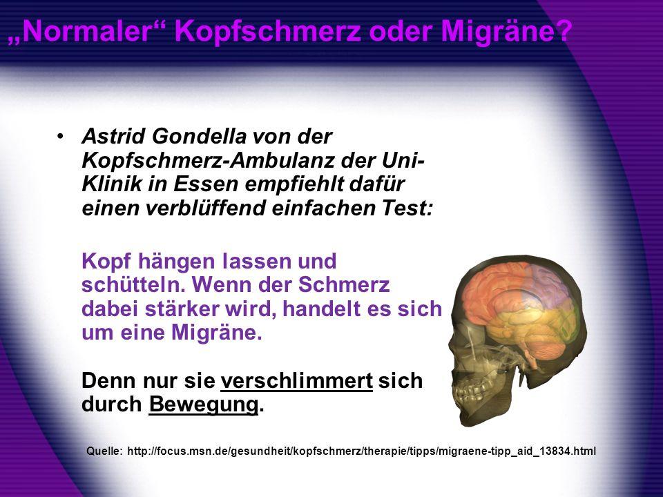 """""""Normaler Kopfschmerz oder Migräne"""