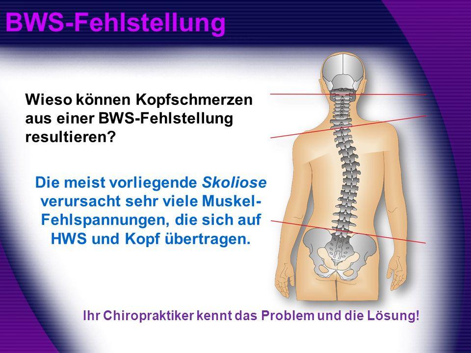 BWS-Fehlstellung Wieso können Kopfschmerzen aus einer BWS-Fehlstellung resultieren
