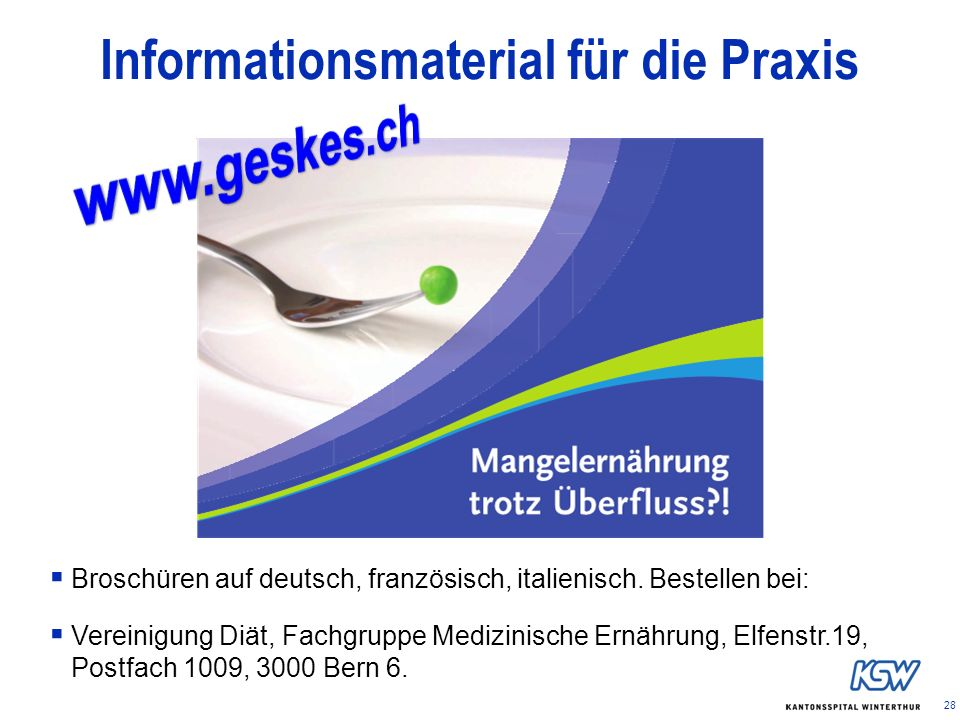 Informationsmaterial für die Praxis