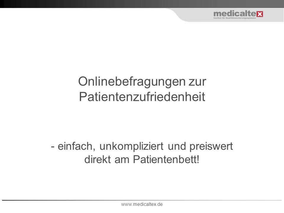 Onlinebefragungen zur Patientenzufriedenheit