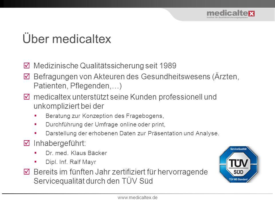 Über medicaltex Medizinische Qualitätssicherung seit 1989