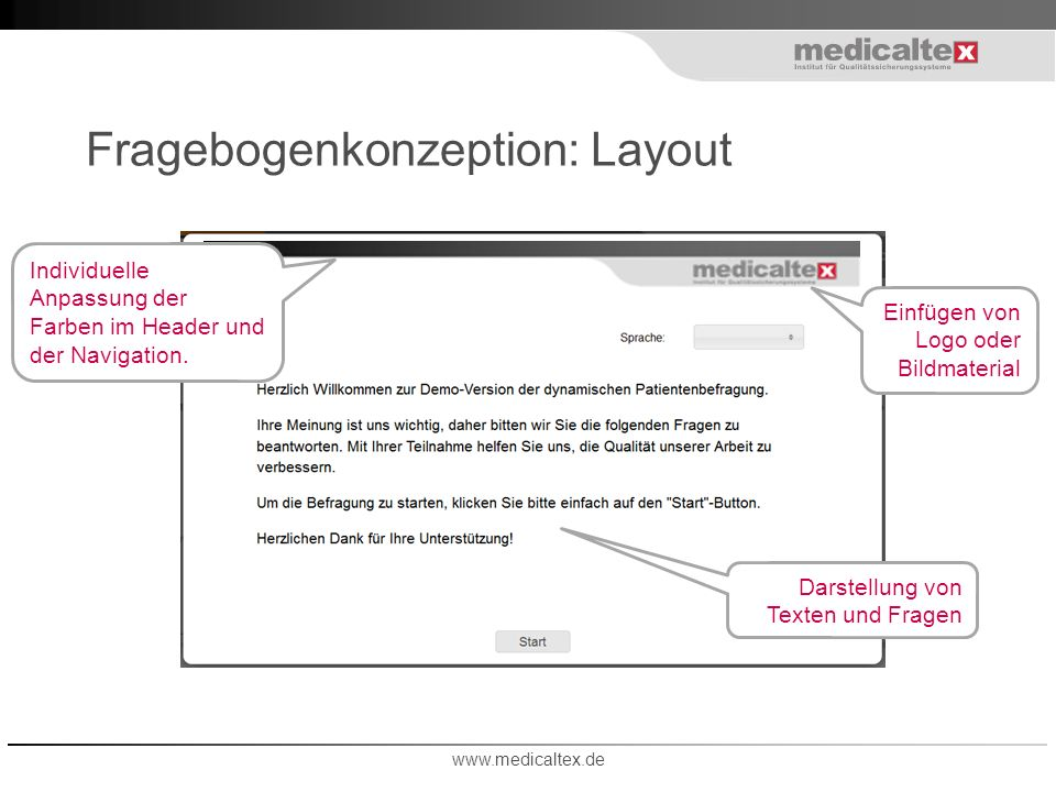 Fragebogenkonzeption: Layout