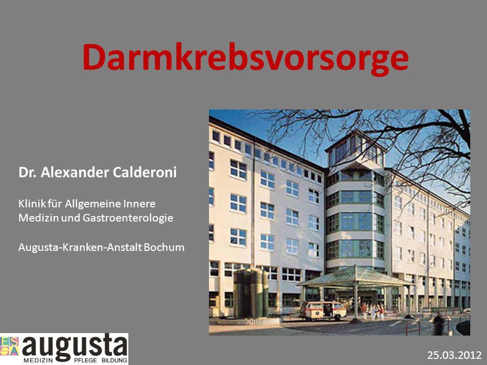 Darmkrebsvorsorge Dr. Alexander Calderoni