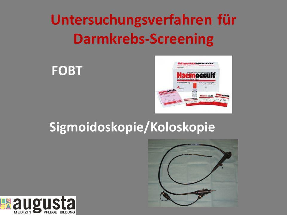 Untersuchungsverfahren für Darmkrebs-Screening