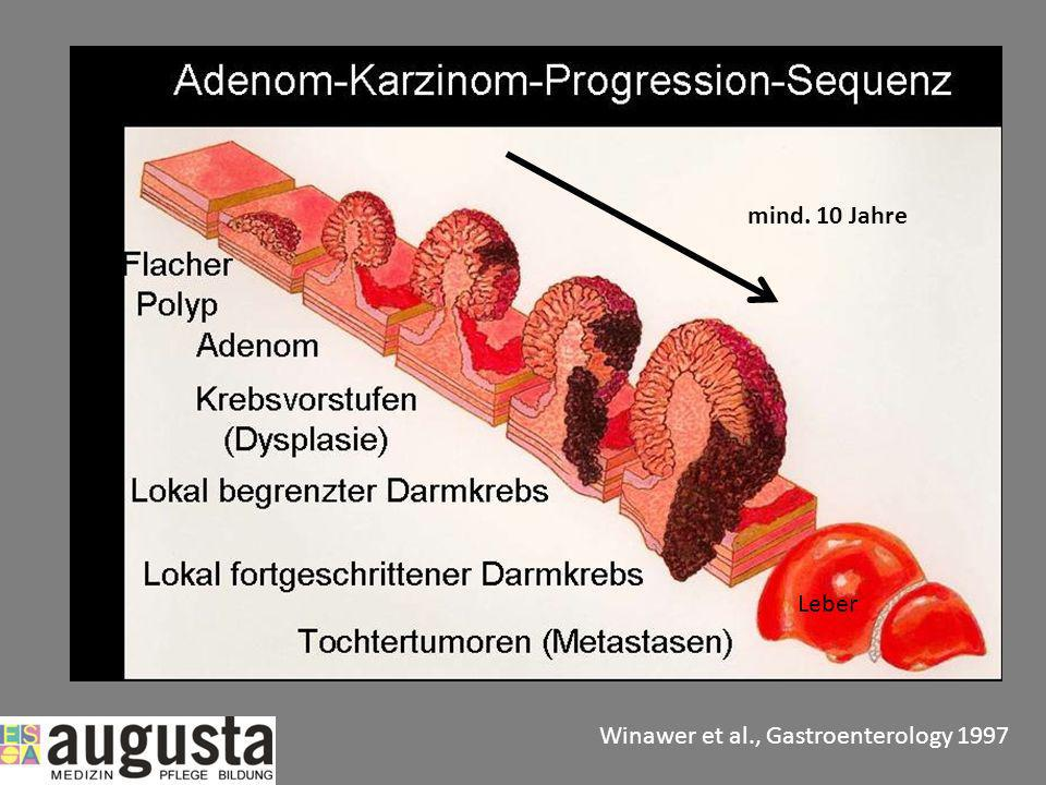 mind. 10 Jahre Leber Winawer et al., Gastroenterology 1997