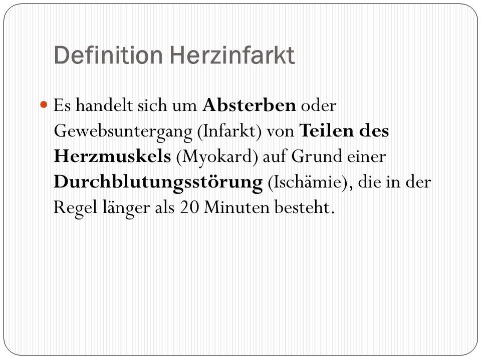 Definition Herzinfarkt