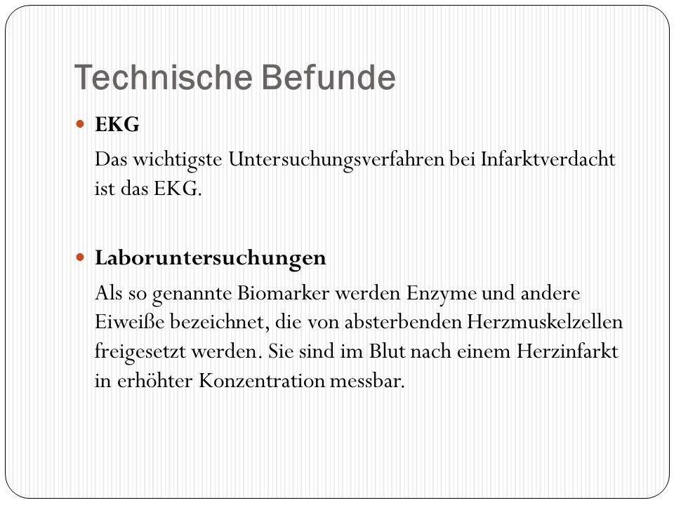 Technische Befunde EKG