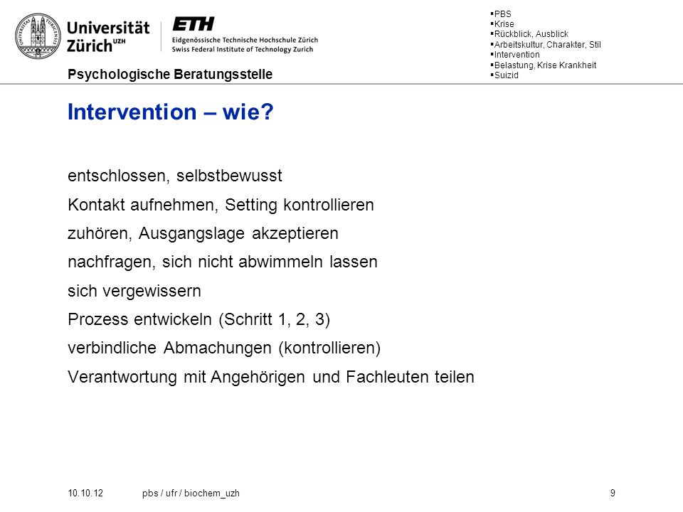 Intervention – wie