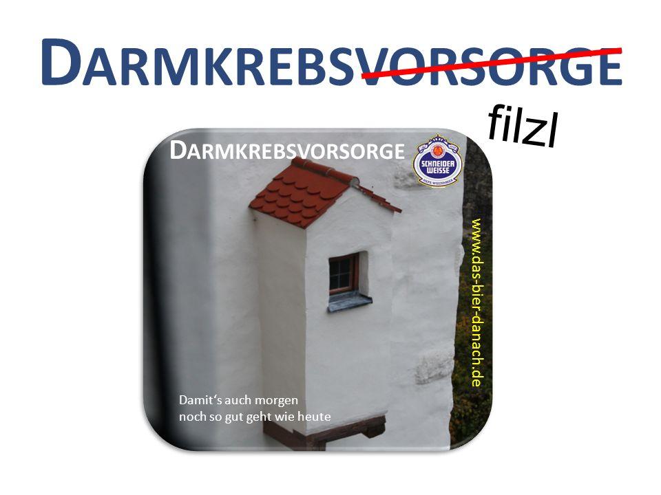Darmkrebsvorsorge filzl Darmkrebsvorsorge www.das-bier-danach.de