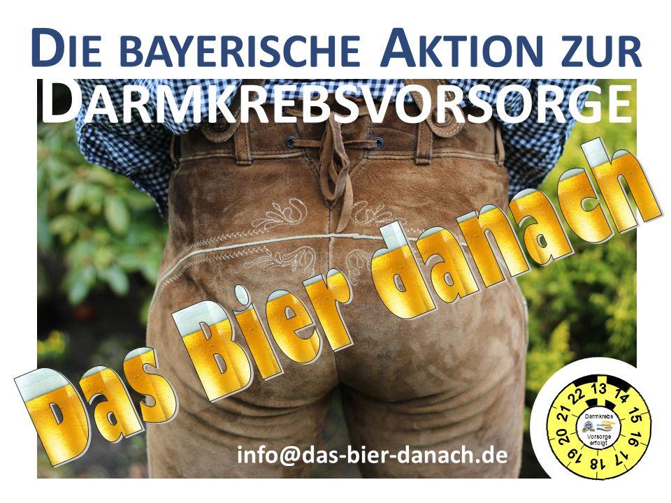 Die bayerische Aktion zur Darmkrebsvorsorge
