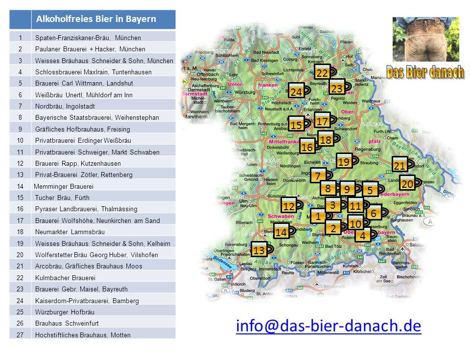 Das Bier danach info@das-bier-danach.de 22 23 24 17 15 18 16 19 21 7