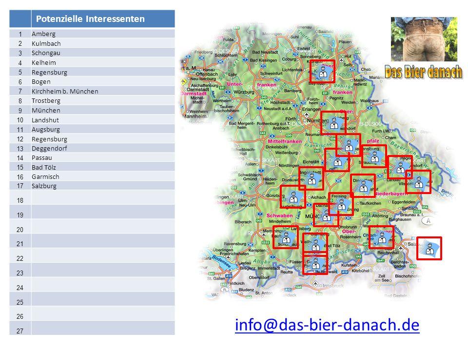 Das Bier danach info@das-bier-danach.de Potenzielle Interessenten