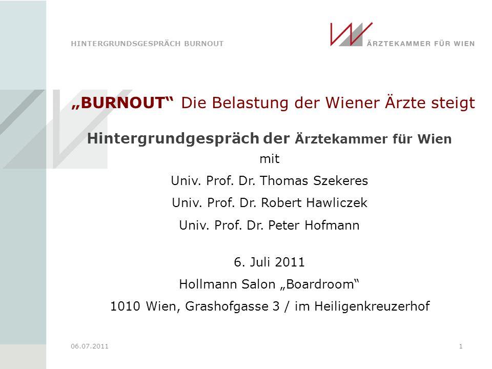 Hintergrundgespräch der Ärztekammer für Wien