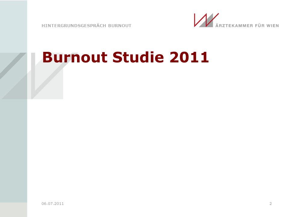 Burnout Studie 2011 06.07.2011