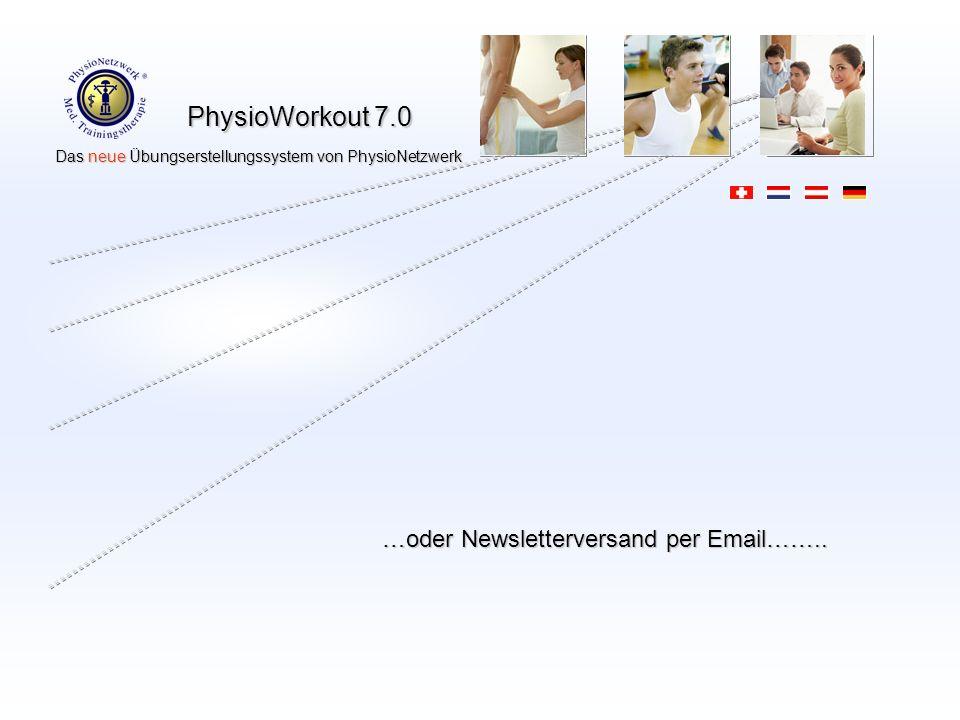 …oder Newsletterversand per Email……..