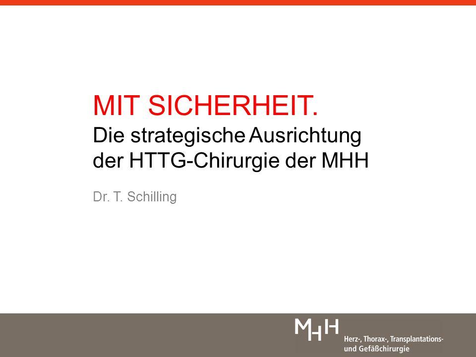 MIT SICHERHEIT. Die strategische Ausrichtung der HTTG-Chirurgie der MHH Dr. T. Schilling