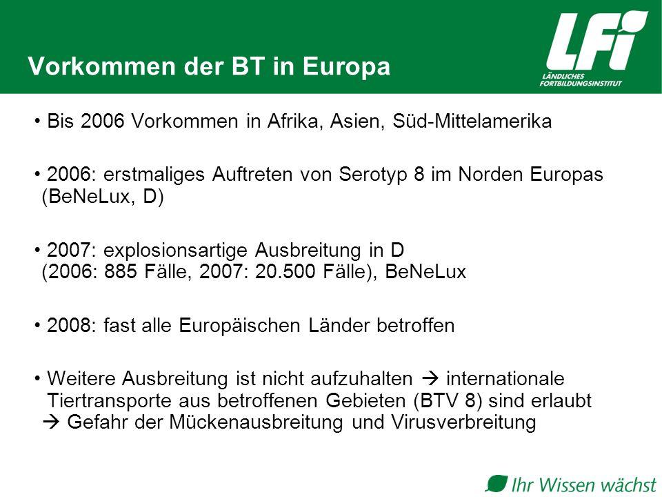 Vorkommen der BT in Europa