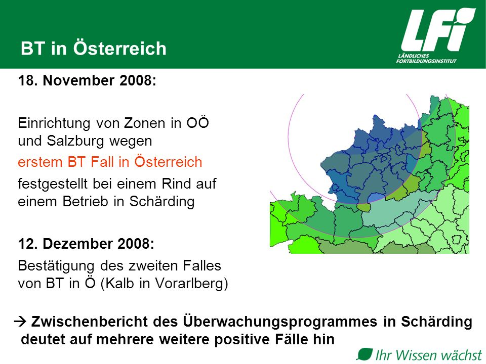 BT in Österreich 18. November 2008: