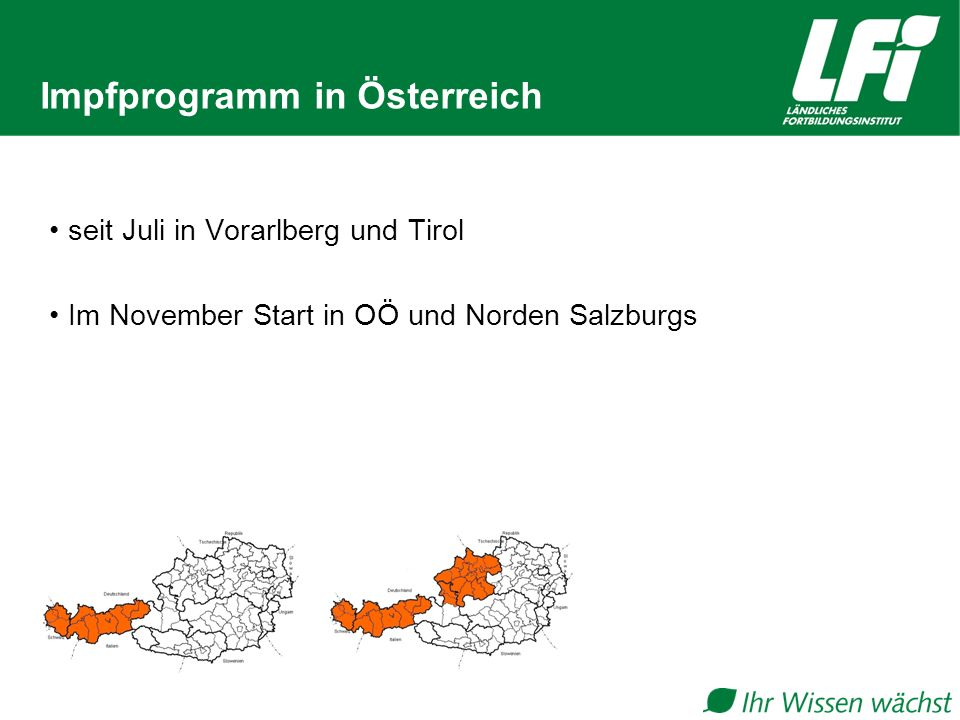 Impfprogramm in Österreich