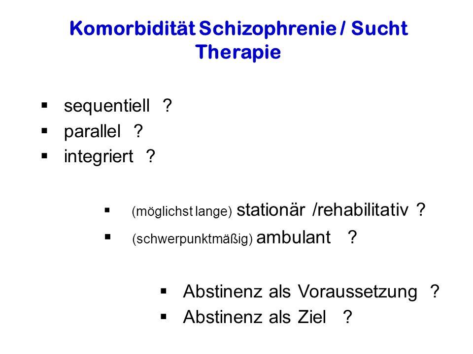 Komorbidität Schizophrenie / Sucht
