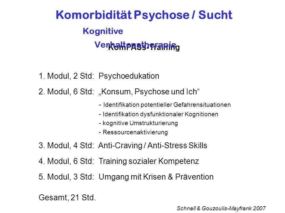Komorbidität Psychose / Sucht