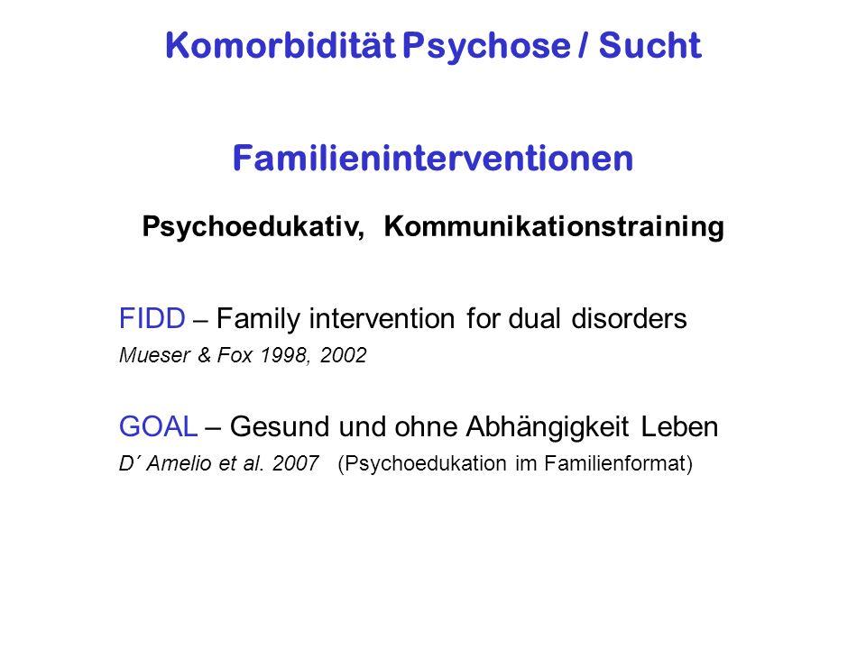 Komorbidität Psychose / Sucht Familieninterventionen
