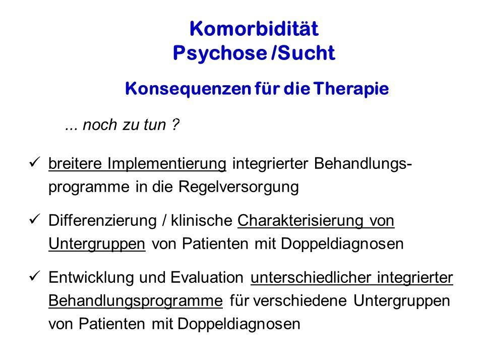 Konsequenzen für die Therapie