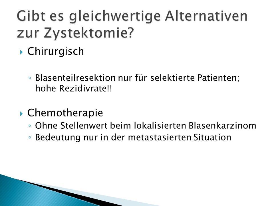 Gibt es gleichwertige Alternativen zur Zystektomie