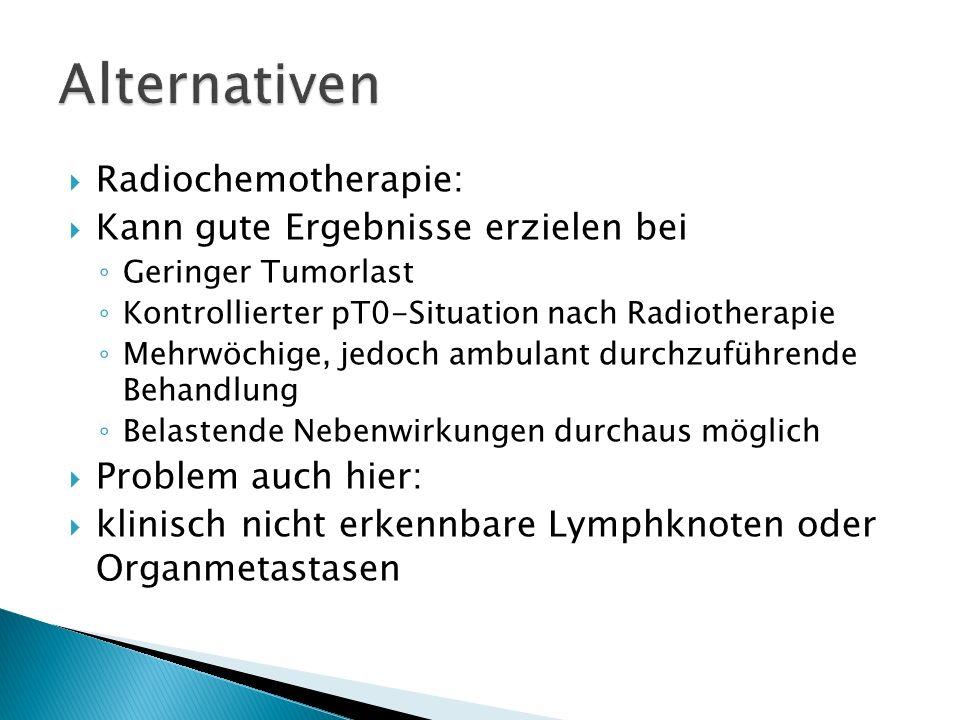 Alternativen Radiochemotherapie: Kann gute Ergebnisse erzielen bei