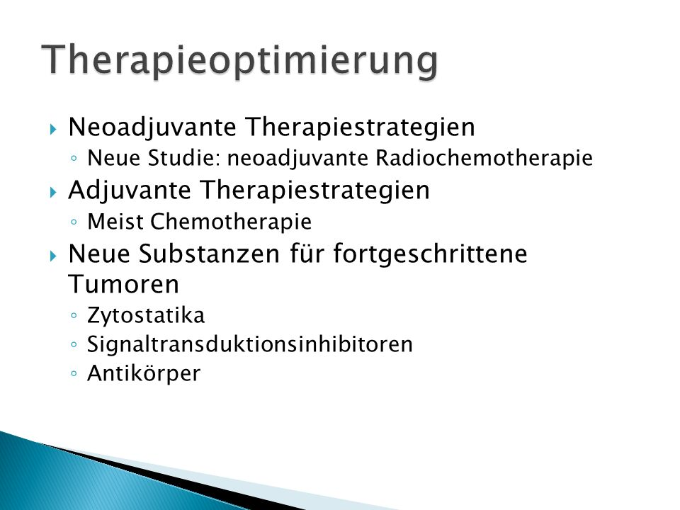 Therapieoptimierung Neoadjuvante Therapiestrategien