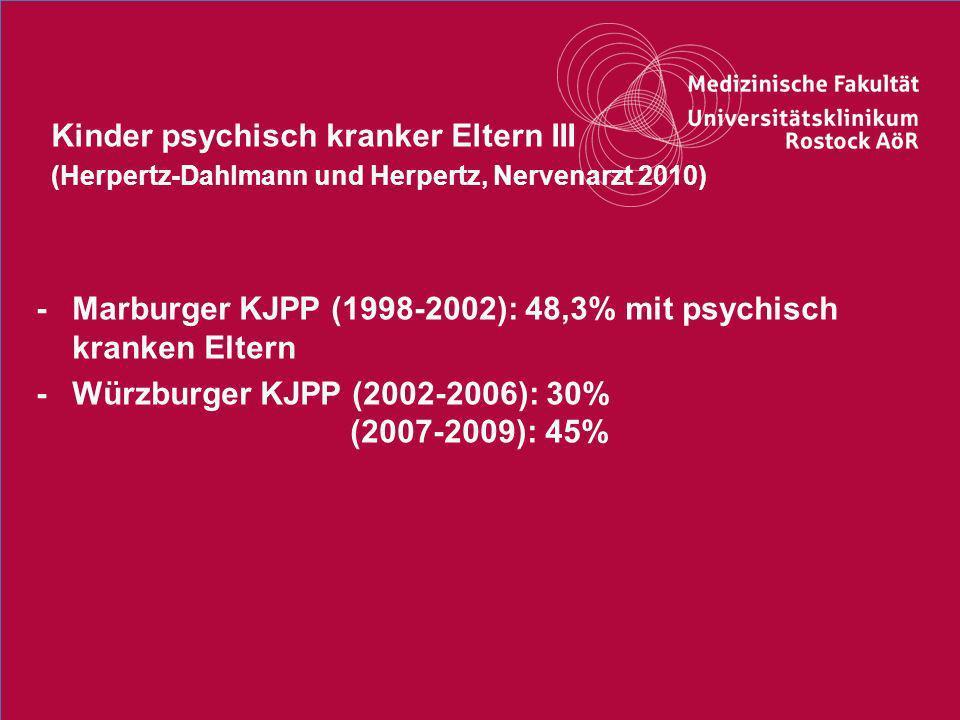 Kinder psychisch kranker Eltern III (Herpertz-Dahlmann und Herpertz, Nervenarzt 2010)