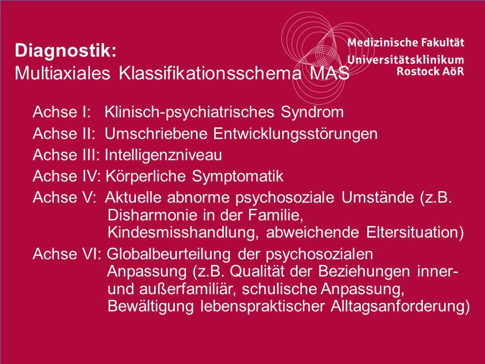 Diagnostik: Multiaxiales Klassifikationsschema MAS