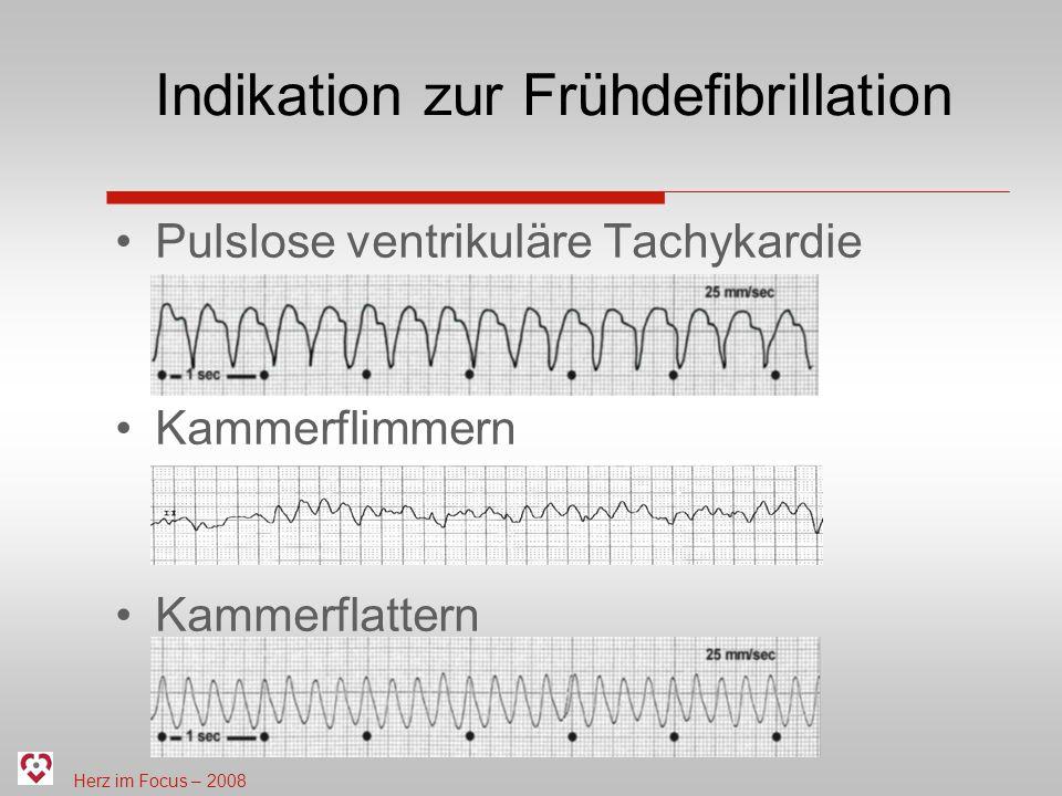 Indikation zur Frühdefibrillation