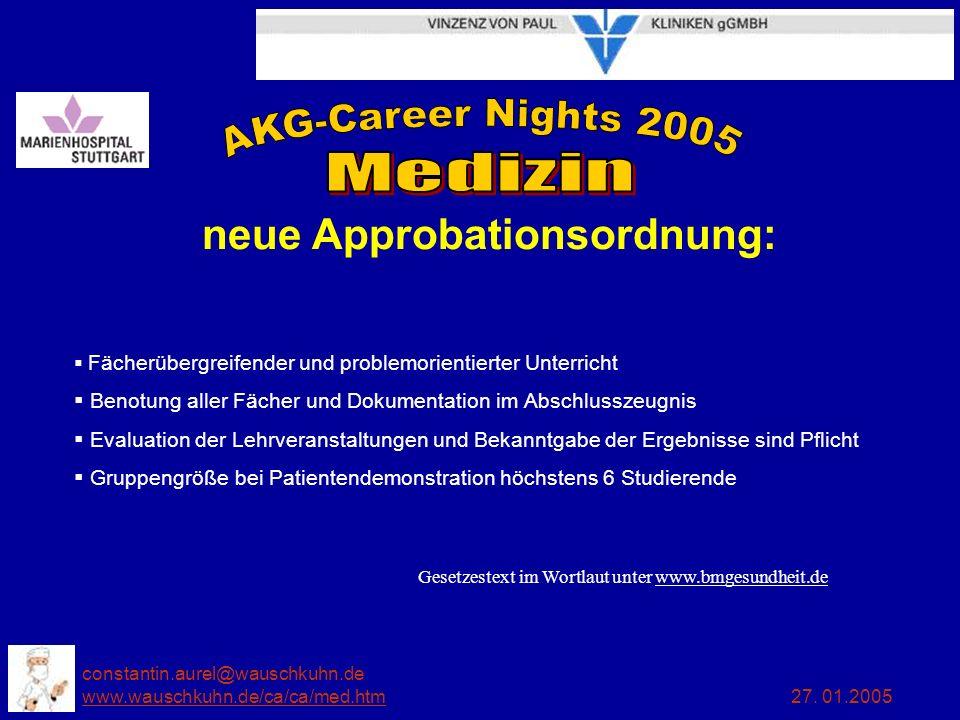 neue Approbationsordnung: