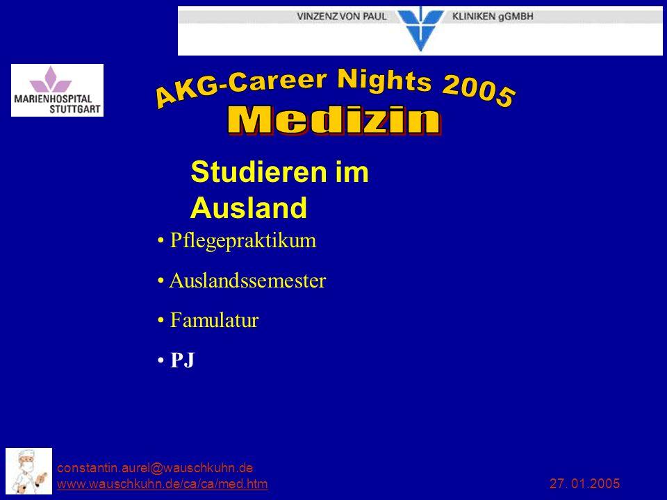 Studieren im Ausland Pflegepraktikum Auslandssemester Famulatur PJ