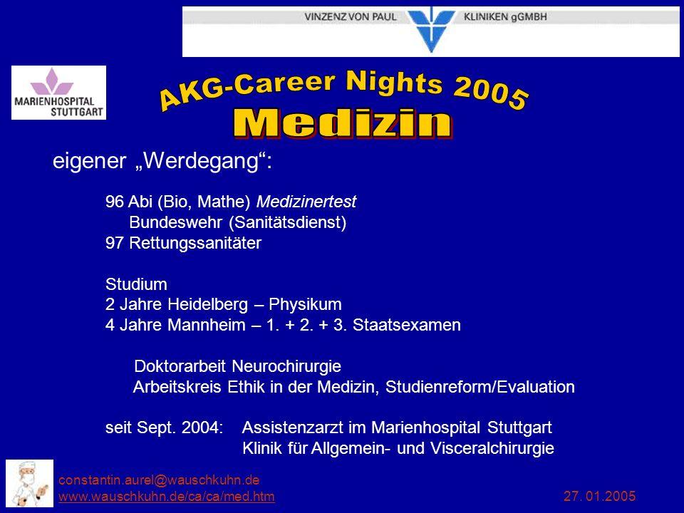 """eigener """"Werdegang : 96 Abi (Bio, Mathe) Medizinertest Bundeswehr (Sanitätsdienst) 97 Rettungssanitäter."""