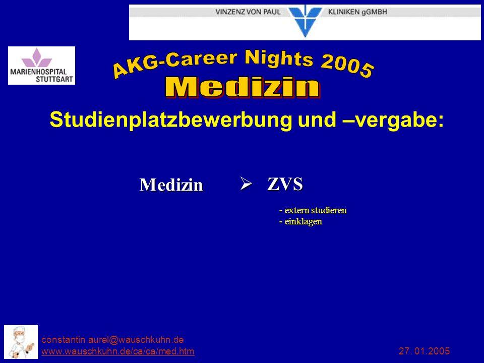 Studienplatzbewerbung und –vergabe: