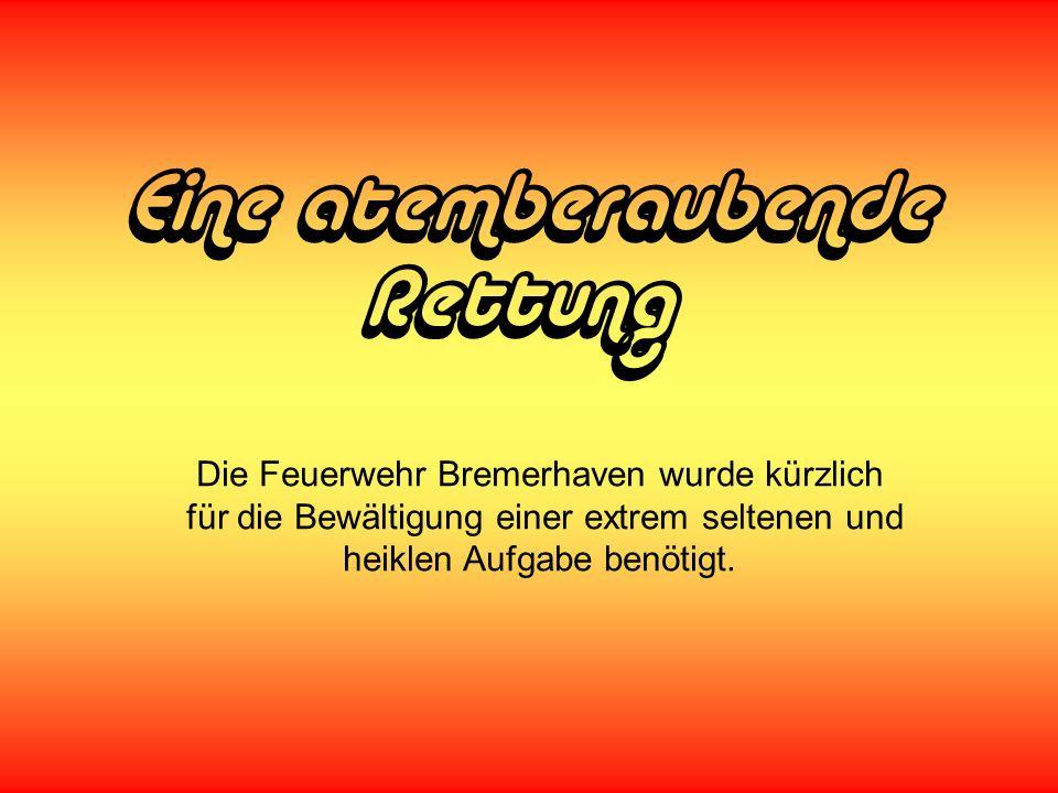 Eine atemberaubende Rettung Die Feuerwehr Bremerhaven wurde kürzlich
