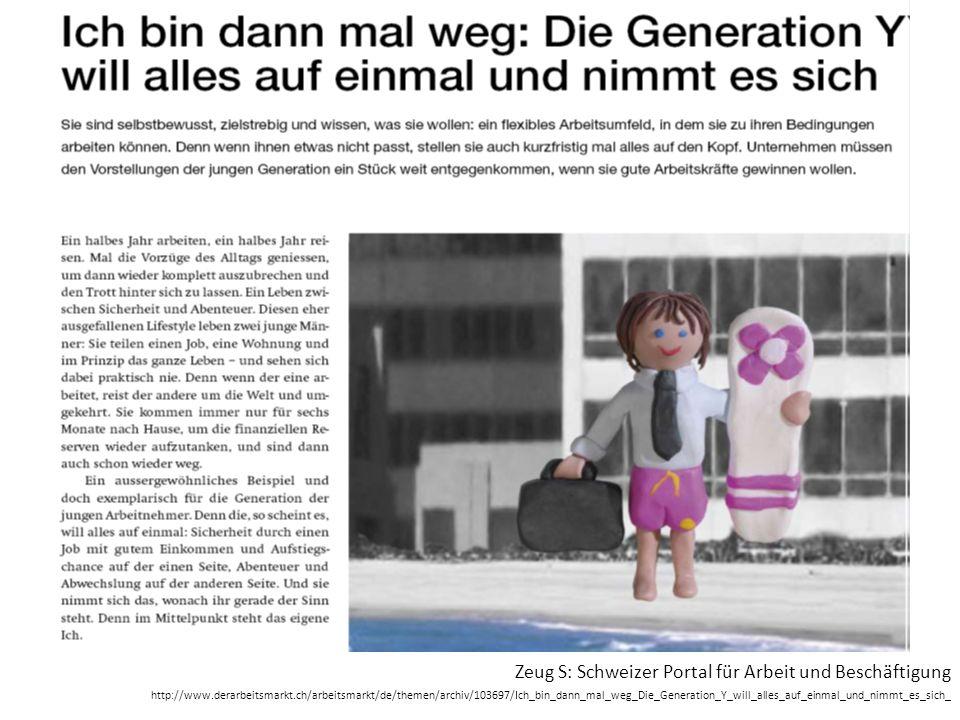 Zeug S: Schweizer Portal für Arbeit und Beschäftigung