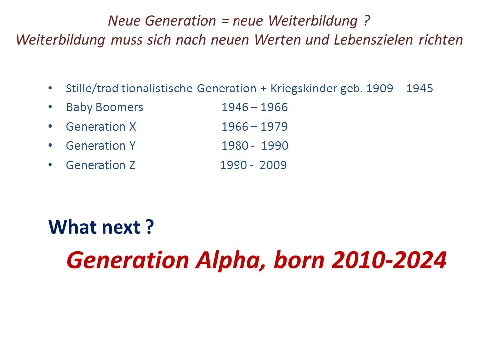 What next Generation Alpha, born 2010-2024