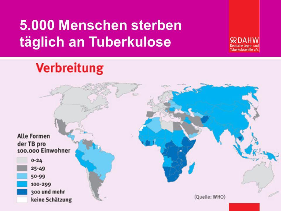 5.000 Menschen sterben täglich an Tuberkulose