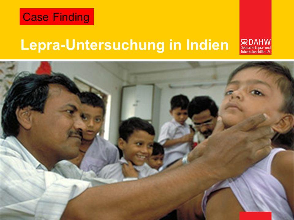 Lepra-Untersuchung in Indien