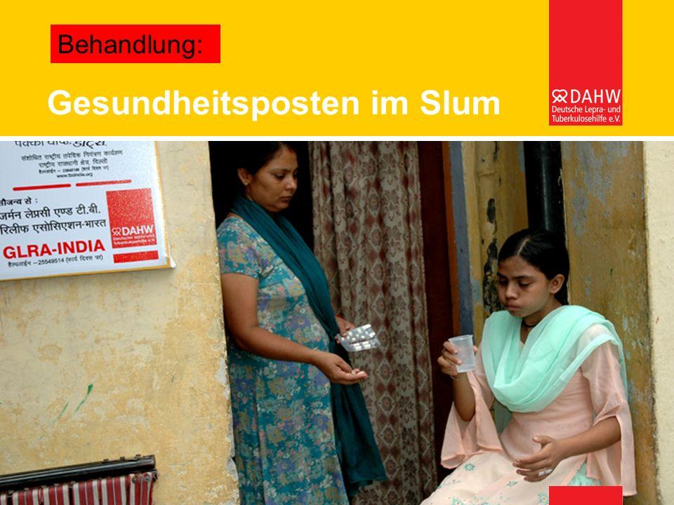 Gesundheitsposten im Slum