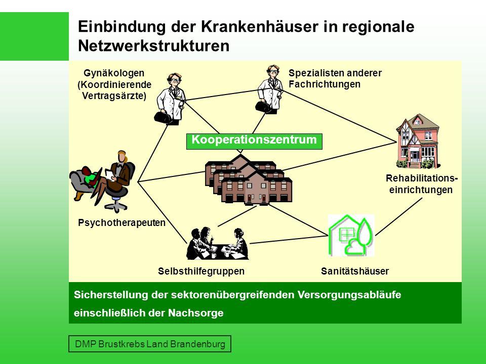 Einbindung der Krankenhäuser in regionale Netzwerkstrukturen