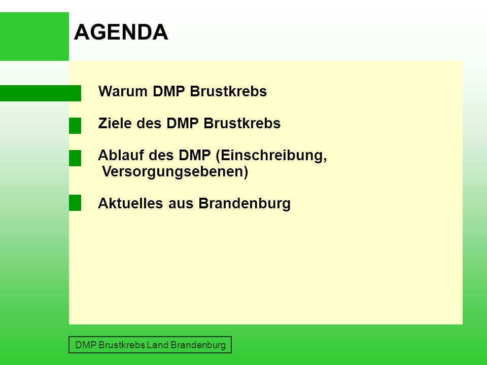 DMP Brustkrebs Land Brandenburg