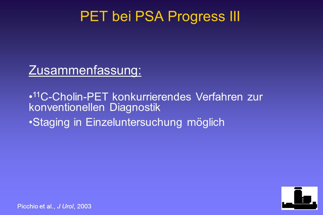 PET bei PSA Progress III