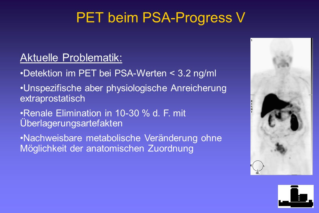 PET beim PSA-Progress V