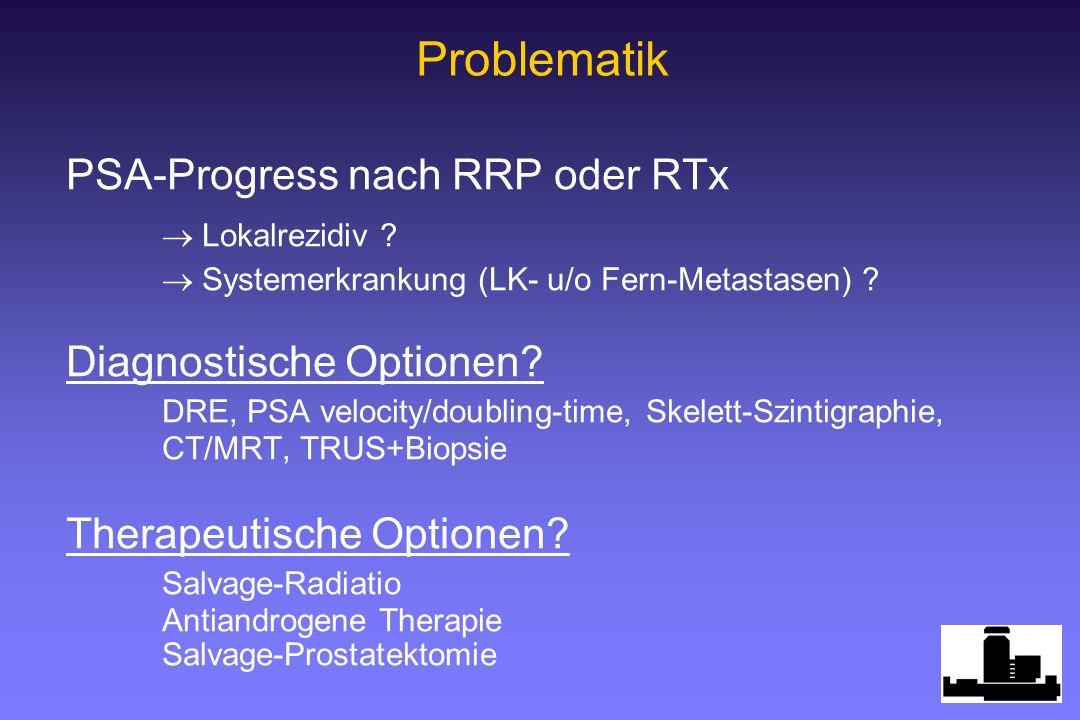 Problematik PSA-Progress nach RRP oder RTx  Lokalrezidiv