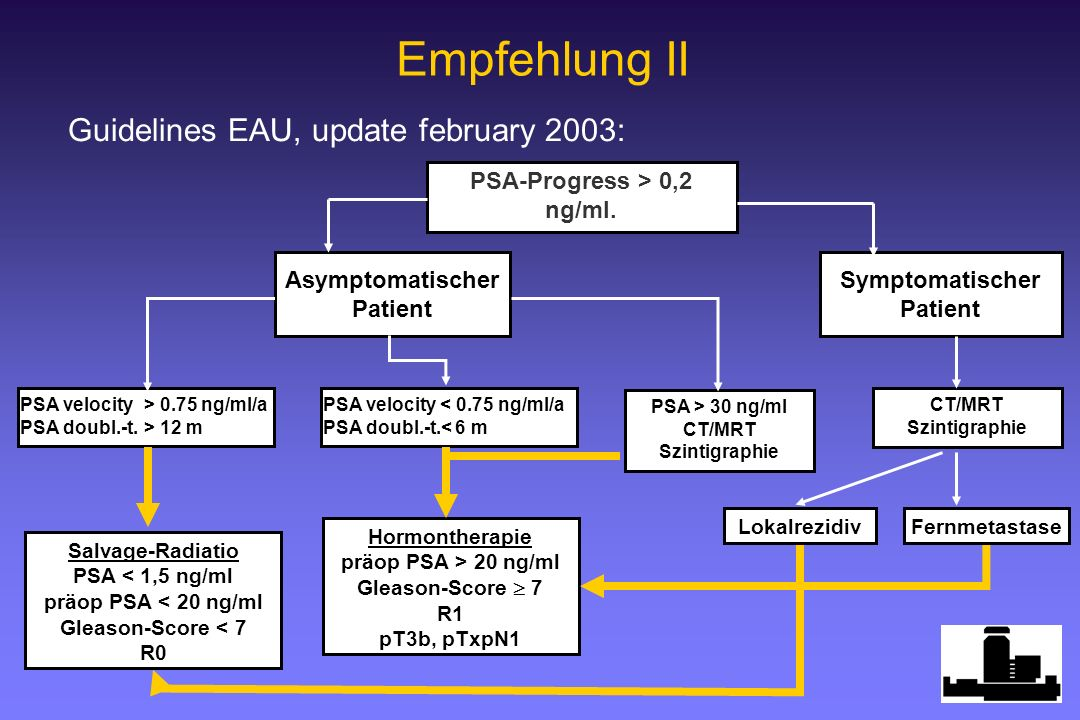 Empfehlung II Guidelines EAU, update february 2003: